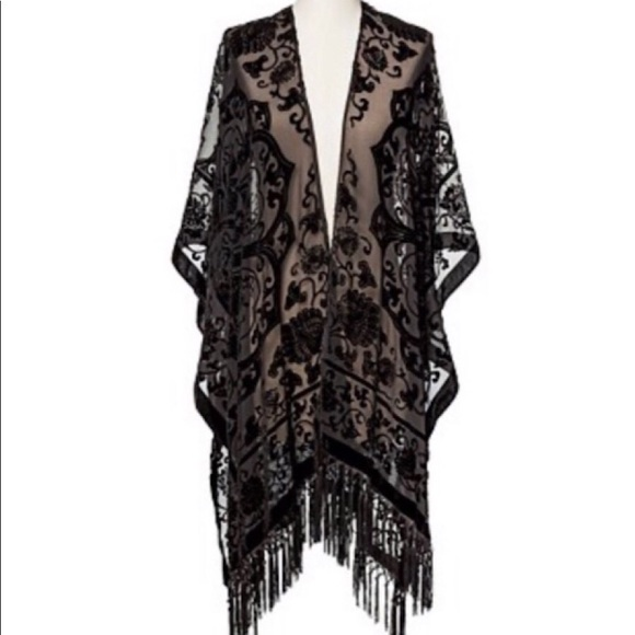 Mossimo Supply Co. Accessories - NWT Mossimo Black Burnout Kimono Jacket